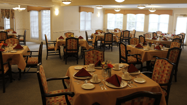 restaurant style dining room with plenty of tables
