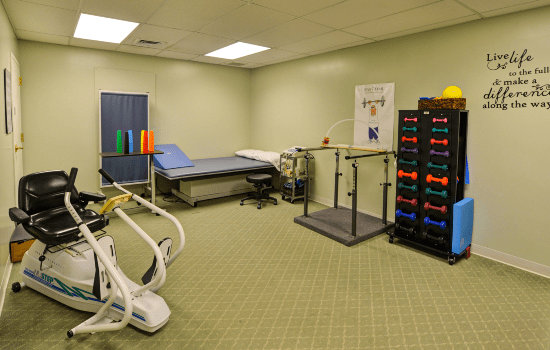 rehabilitation room with all the necessary equipment