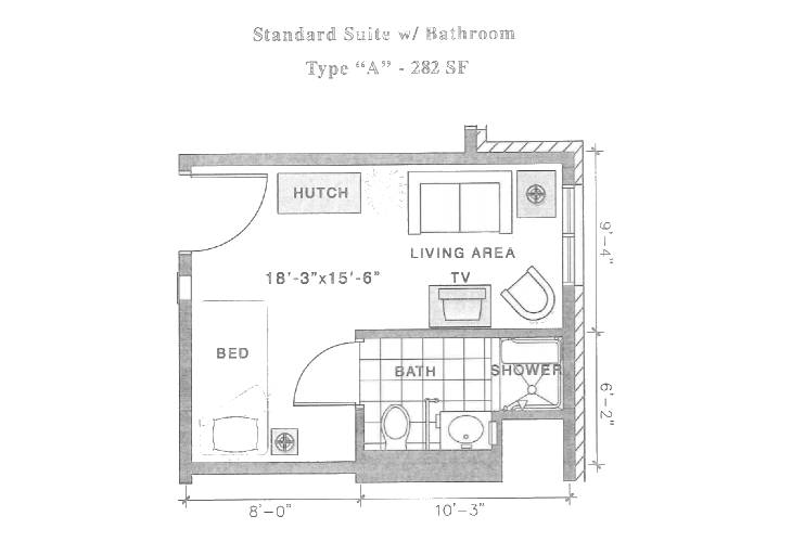 Standard Suite w Bathroom Type A