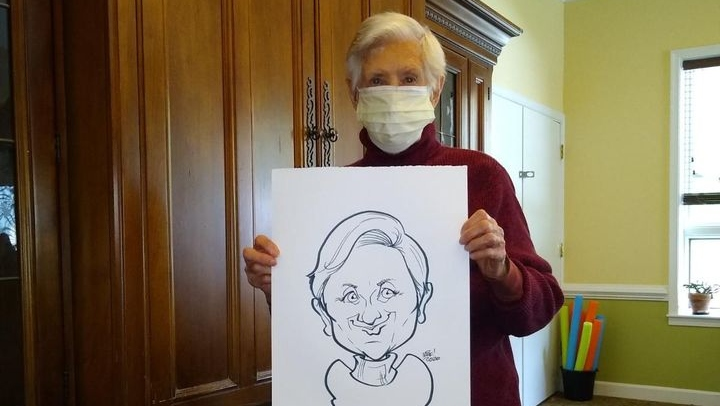 a resident and their drawing