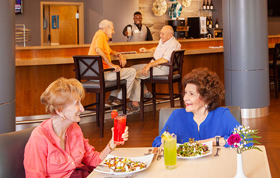residents dining at the bistro